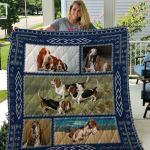 Theartsyhomes Basset Hound Qui15004 3D Personalized Customized Quilt Blanket ESR46