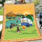 Theartsyhomes Doberman Go Camping 3D Personalized Customized Quilt Blanket ESR19
