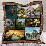 Theartsyhomes Dinosaur World 3D Personalized Customized Quilt Blanket ESR4