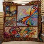 Theartsyhomes Butterflies #Bfeb-01 3D Personalized Customized Quilt Blanket ESR45