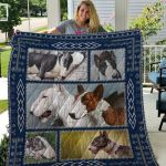Theartsyhomes Bull Terrier Qui59001 3D Personalized Customized Quilt Blanket ESR16