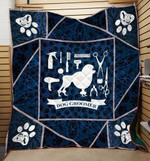 Theartsyhomes Dog Groomer Hqd-Qhg00007 3D Personalized Customized Quilt Blanket ESR45