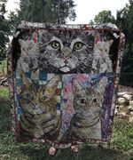 Theartsyhomes Cat 3D Personalized Customized Quilt Blanket ESR5