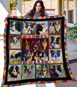 Theartsyhomes Border Collie 3D Personalized Customized Quilt Blanket ESR28
