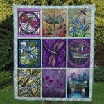 Theartsyhomes Colorful Dragonfly Washable Handmade 1511-04 3D Personalized Customized Quilt Blanket ESR31