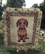 Theartsyhomes Dachshund sad 3D Personalized Customized Quilt Blanket ESR31