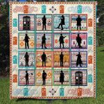Theartsyhomes Dr Who Fabric 3D Personalized Customized Quilt Blanket ESR26