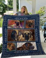 Theartsyhomes Bullmastiff 1 3D Personalized Customized Quilt Blanket ESR35