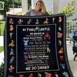Theartsyhomes Disney In The Castle 3D Personalized Customized Quilt Blanket ESR42