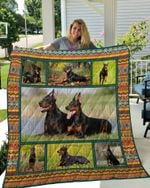 Theartsyhomes Doberman 7 3D Personalized Customized Quilt Blanket ESR18