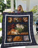 Theartsyhomes Cat 1 3D Personalized Customized Quilt Blanket ESR11