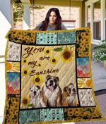 Theartsyhomes Bulldog Qui38003 3D Personalized Customized Quilt Blanket ESR29