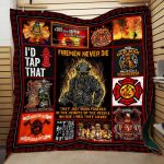 Theartsyhomes Fire Fighter Printing Pm-Qhn00001 3D Personalized Customized Quilt Blanket ESR28