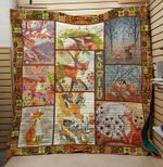 Theartsyhomes Cute fox 3D Personalized Customized Quilt Blanket ESR34