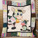 Theartsyhomes Cow Printing Cow-Qvk00011 3D Personalized Customized Quilt Blanket ESR21