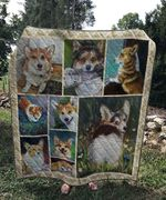 Theartsyhomes Cute corgi 3D Personalized Customized Quilt Blanket ESR33