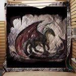 Theartsyhomes Black Dragon Washable Handmade 1511-03 3D Personalized Customized Quilt Blanket ESR4