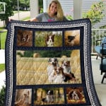 Theartsyhomes Border Collie Qui17006 3D Personalized Customized Quilt Blanket ESR40