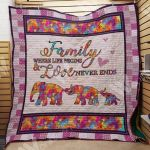 Theartsyhomes Elephant Family M2103 81o34 3D Personalized Customized Quilt Blanket ESR15