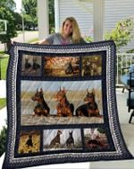 Theartsyhomes Doberman 6 3D Personalized Customized Quilt Blanket ESR17