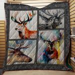 Theartsyhomes Deer V2 3D Personalized Customized Quilt Blanket ESR35