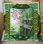 Theartsyhomes Dragonfly Stronger 3D Personalized Customized Quilt Blanket ESR18