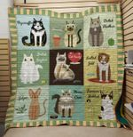 Theartsyhomes Cat family 3D Personalized Customized Quilt Blanket ESR37