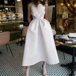 Swing Pleated Waist Sleeveless Spaghetti Sexy White Dress