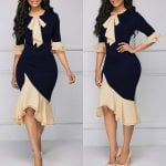 Long sleeve Elegant Pencil Vintage Dress