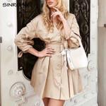 Elegant Button  French A-line Vintage Dress