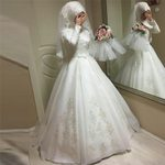 Jewel Chiffon Long Sleeves Wedding Dresses