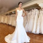 Neckline Simple Sexy Bridal Gowns Mermaid Wedding Dresses