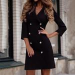 Turn Down Neck Formal Dress Sexy Fashion Blazer Dress