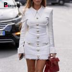 Splice Single Breasted Elegant Office  Blazer Dress