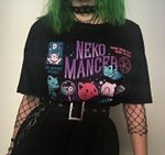 Unisex Cute Aesthetic Grunge Gothic Witch T-Shirt