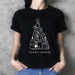 Christmas Funny Print Trees T-shirt