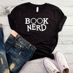 Cotton Casual Funny Book Nerd Print T-shirt