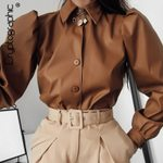 Fashion Puff Sleeve   Long Sleeve  Blouses