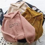 fashion letter casual loose long-sleeved hooded hoodie