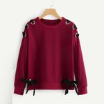 Lolita Butterfly Bow Long Sleeve Casual Pullovers Sweatshirts