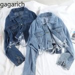 Hole Short Chic Style New Retro Denim Jacket