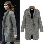 Woolen Fashion Sexy Cardigan Cotton Retro Tide Coat