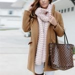 Mid-Long  Zipper Fashion Warm Camel Woolen Coat