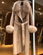 Fox Fur Collar Double Sided Wool Windbreaker Wool Coats