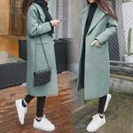 Long  Fashion Single Breasted Slim Wool Coat