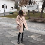 Mid-Long Outerwear woolen woolen coat