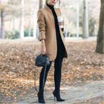 Wool Long Tops Blends Woolens Coat