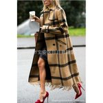 New Style Fashion Plaid Long Coats