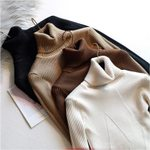 Long Sleeve casual warm basic turtleneck Thick Sweater Pullovers