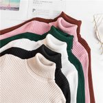 Pullover Knitted Turtleneck Sweater
